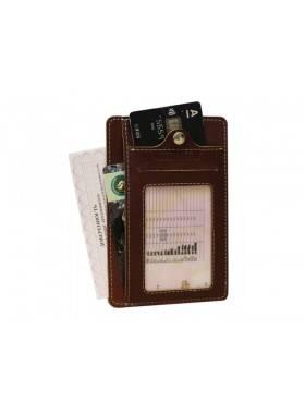 Обложка для автодокументов ОВ-S коричневый Apache RFID