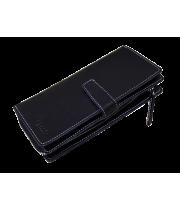 Портмоне-тревел мужское дорожное из натуральной кожи МК-S-8 черный Apache RFID