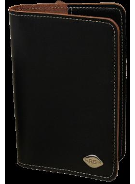 Обложка для паспорта кожаная черная RS