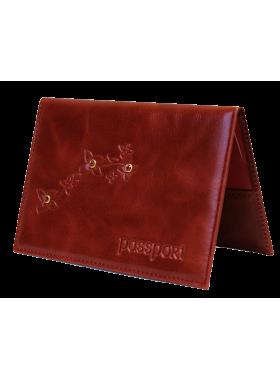 Обложка для паспорта ОПВ- Мэри женская пулл-уп красный Kniksen