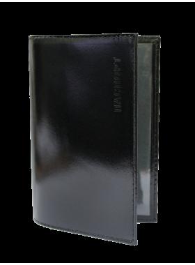 Обложка для паспорта СТ-ПО-1 Г шик черный Старк