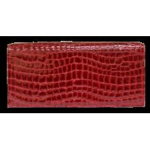 Кожаный женский клатч темно-красный № 1 Person