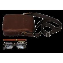 Сумка мужская из кожи СМ-9913-А коричневая Apache