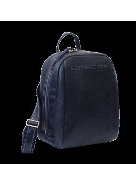Кожаный мужской рюкзак P-9013-A друид темно синий Apache
