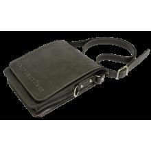 Сумка планшет из кожи дымчато-коричневая СМ-3013-А Apache
